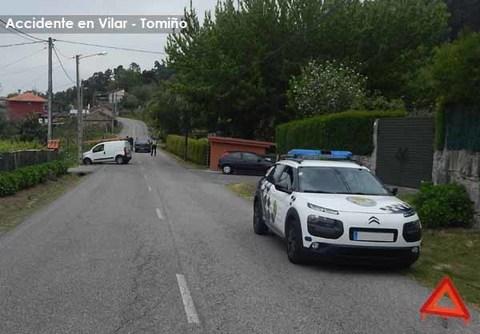 Infominho - Accidente de circulación con 2 heridos leves en Vilar - Tomiño - INFOMIÑO - Informacion y noticias del Baixo Miño y Alrededores.