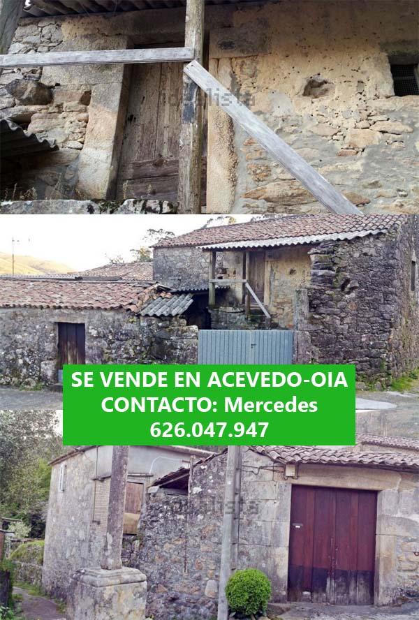 Infominho - Se vende finca con dos contrucciones para reformar en Acevedo (Oia) - INFOMIÑO - Informacion y noticias del Baixo Miño y Alrededores.