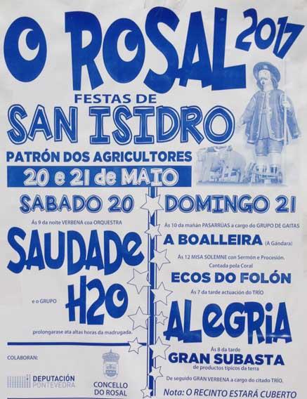 Infominho - O Rosal acolle o 20 e 21 de Maio as Festas de San Isidrio, Patrón dos agricultores - INFOMIÑO - Informacion y noticias del Baixo Miño y Alrededores.