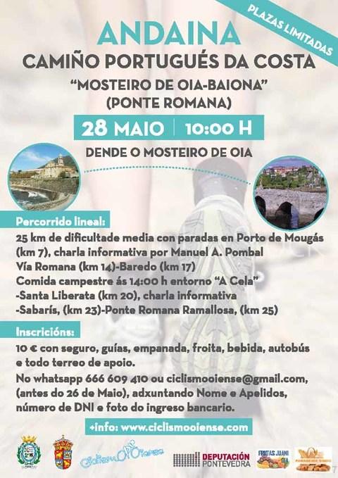 Infominho - Andaina -Camiño Portugués da Costa- este domingo de Oia a Baiona - INFOMIÑO - Informacion y noticias del Baixo Miño y Alrededores.