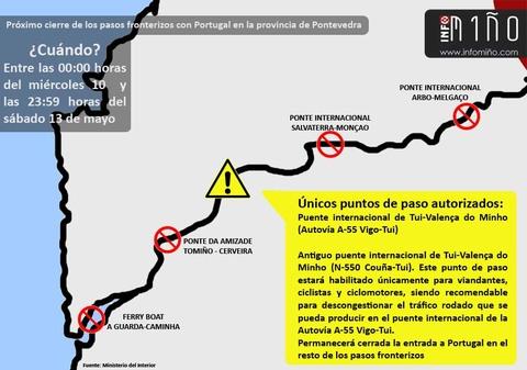 Infominho - ¿Qué consecuencias tendrá el corte de fronteras con motivo de la visita del papa a Portugal? - INFOMIÑO - Informacion y noticias del Baixo Miño y Alrededores.