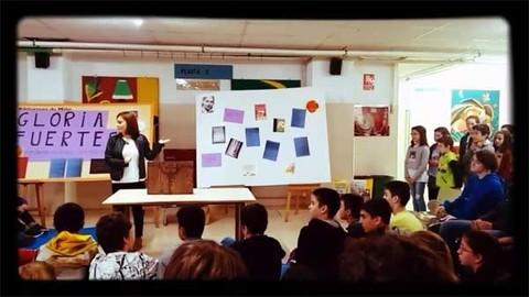 Infominho - Alumnos do Colexio A Sangriña de A Guarda participaron nunha Homenaxe a Gloria Fuertes - INFOMIÑO - Informacion y noticias del Baixo Miño y Alrededores.