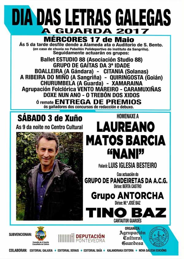 Infominho - A Agrupación Cultural Guardesa homenaxea este sábado a Nani Matos co gallo do Día das Letras Galegas 2017 - INFOMIÑO - Informacion y noticias del Baixo Miño y Alrededores.