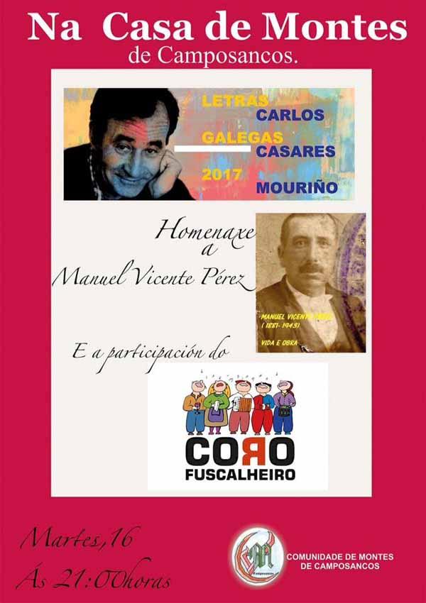Infominho - A Casa da Comunidade de Montes de Camposancos acolle este martes unha homenaxe co gallo do Día das Letras Galegas  - INFOMIÑO - Informacion y noticias del Baixo Miño y Alrededores.