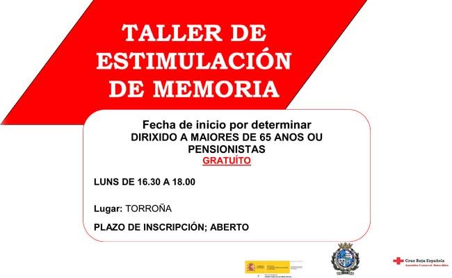 Infominho -  Cruz Roja en Baixo Miño y el Concello de Oia  inician un nuevo taller de estimulación de memoria en Torroña - INFOMIÑO - Informacion y noticias del Baixo Miño y Alrededores.