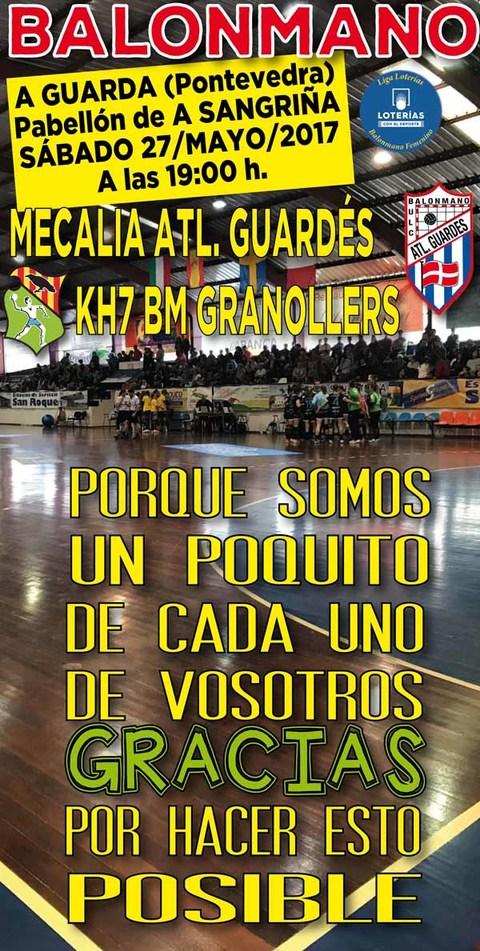 Infominho - El Mecalia Atl.Guardés afronta este sábado en A Sangriña un partido decisivo frente al BM Granollers - INFOMIÑO - Informacion y noticias del Baixo Miño y Alrededores.