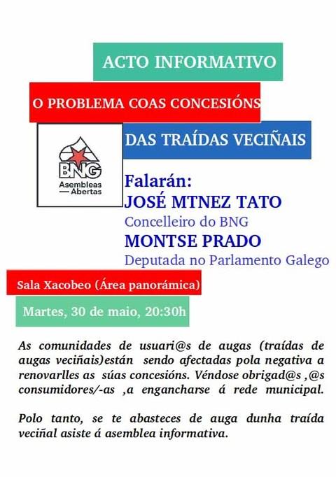 Infominho - Acto informativo -o problema coas concesións das traídas de augas veciñais- este martes en Tui - INFOMIÑO - Informacion y noticias del Baixo Miño y Alrededores.