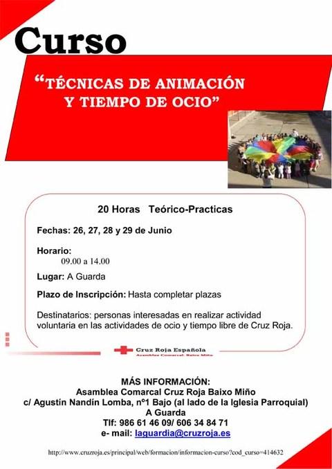 Infominho -  Nueva acción formativa de Cruz Roja: Curso  de técnicas de animación y tiempo de ocio - INFOMIÑO - Informacion y noticias del Baixo Miño y Alrededores.