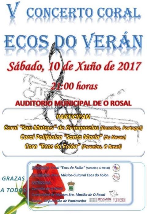 Infominho - V Concerto Coral Ecos do Verán este sábado no Rosal - INFOMIÑO - Informacion y noticias del Baixo Miño y Alrededores.
