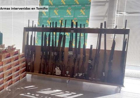 Infominho - La Guardia Civil denuncia a los dueños de las armas que fueron intervenidas en un taller clandestino de reparación en Tomiño  - INFOMIÑO - Informacion y noticias del Baixo Miño y Alrededores.