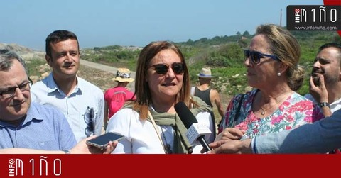 Infominho - Especial - Ana Ortiz, visitó la reforma de la senda litoral de las faldas de Santa Tecla - INFOMIÑO - Informacion y noticias del Baixo Miño y Alrededores.