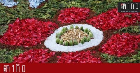 Infominho - Especial - A Guarda despertó este domingo con las coloridas alfombras florales del Corpus - INFOMIÑO - Informacion y noticias del Baixo Miño y Alrededores.