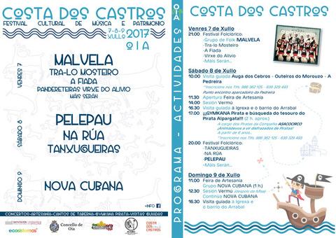 Infominho - O Festival Costa dos Castros chega este ano a súa 2ª edición en Oia - INFOMIÑO - Informacion y noticias del Baixo Miño y Alrededores.