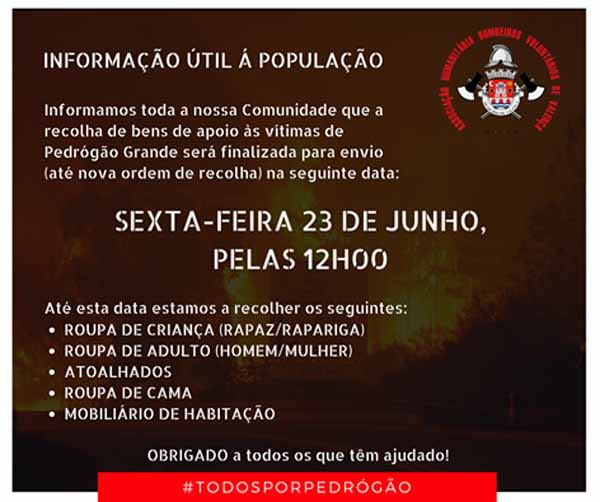 Infominho - La Campaña de Recogida de los Bomberos Voluntarios de Valença acaba este viernes a las 12:00h - INFOMIÑO - Informacion y noticias del Baixo Miño y Alrededores.