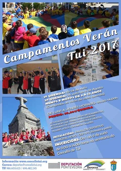 Infominho -  Novo prazo de inscrición para as prazas dispoñibles no Campamento de Verán Tui 2017 - INFOMIÑO - Informacion y noticias del Baixo Miño y Alrededores.