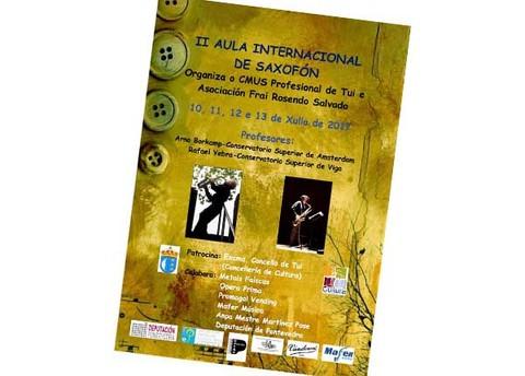 Infominho -  Rafael Yebra e Arno Borkamp impartirán a II Aula Internacional de Saxofón no conservatorio de Tui - INFOMIÑO - Informacion y noticias del Baixo Miño y Alrededores.