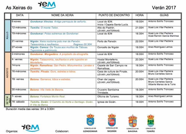 Infominho - O Instituto de Estudos Miñoranos organiza varias Xeiras no verán - INFOMIÑO - Informacion y noticias del Baixo Miño y Alrededores.