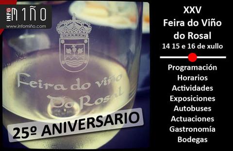 Infominho - O Rosal acolle esta fin de semana a XXV Feira do Viño - INFOMIÑO - Informacion y noticias del Baixo Miño y Alrededores.