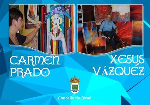 Infominho -  Exposición de pintura de Carmen Prado e Xesús Vázquez no Rosal - INFOMIÑO - Informacion y noticias del Baixo Miño y Alrededores.
