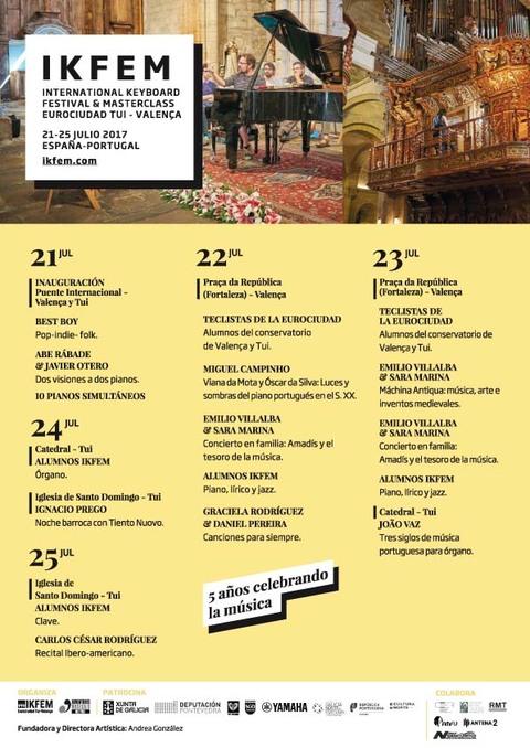 Infominho - Tui acolle a quinta edición do International Keyboard Festival & Masterclass (IKFEM) 2017 - INFOMIÑO - Informacion y noticias del Baixo Miño y Alrededores.