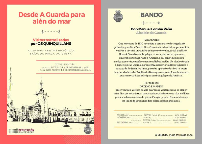 Infominho - Visitas teatralizadas para coñecer a historia mais recente da Guarda - INFOMIÑO - Informacion y noticias del Baixo Miño y Alrededores.
