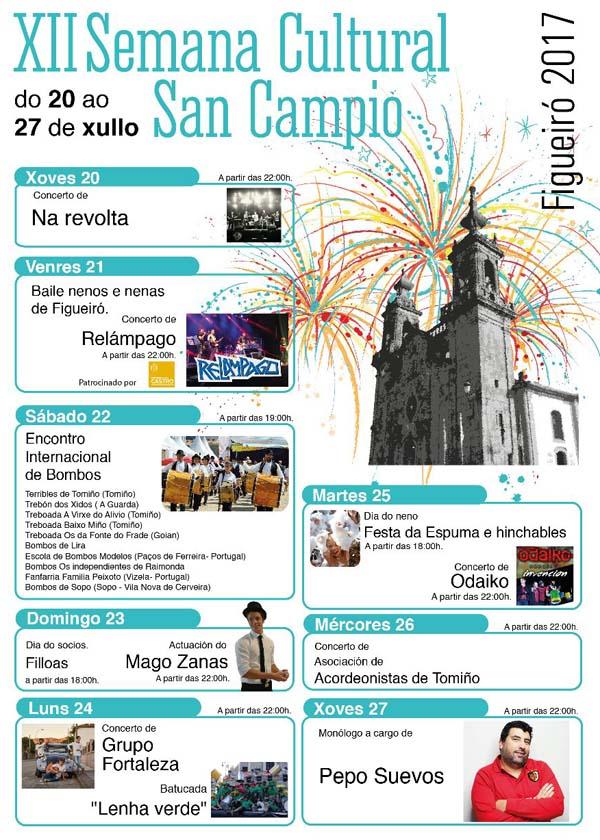 Infominho - Programación da XII Semana Cultural de San Campio - INFOMIÑO - Informacion y noticias del Baixo Miño y Alrededores.