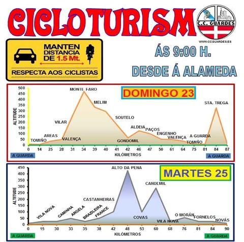 Infominho -  Salidas del Club Ciclista Guardés los días 23 y 25 de julio - INFOMIÑO - Informacion y noticias del Baixo Miño y Alrededores.