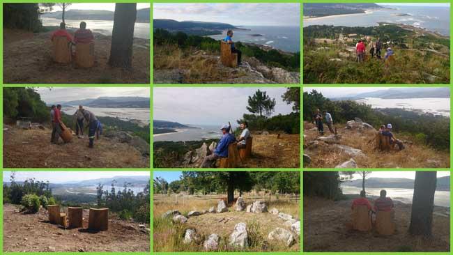 Infominho - 15 bancos de madeira coas mellores vistas no Monte Sta. Trega da Guarda - INFOMIÑO - Informacion y noticias del Baixo Miño y Alrededores.