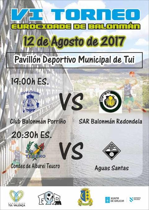 Infominho - O sábado 12 de agosto celebrarase o VI Torneo Eurocidade de Balonmán - INFOMIÑO - Informacion y noticias del Baixo Miño y Alrededores.