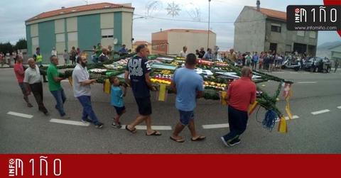 Infominho - Especial - San Cayetano ya luce su arco floral - INFOMIÑO - Informacion y noticias del Baixo Miño y Alrededores.