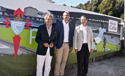 Infominho - Abel Caballero, Carlos Mouriño e Antonio Lomba inauguran a rúa Vigo e rúa do Celta  - INFOMIÑO - Informacion y noticias del Baixo Miño y Alrededores.
