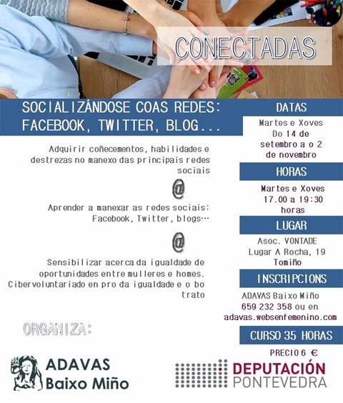 Infominho - ADAVAS Baixo Miño abre el plazo para inscribirse en el taller -Socializándose coas redes: Facebook, Twitter, Blogs-  - INFOMIÑO - Informacion y noticias del Baixo Miño y Alrededores.