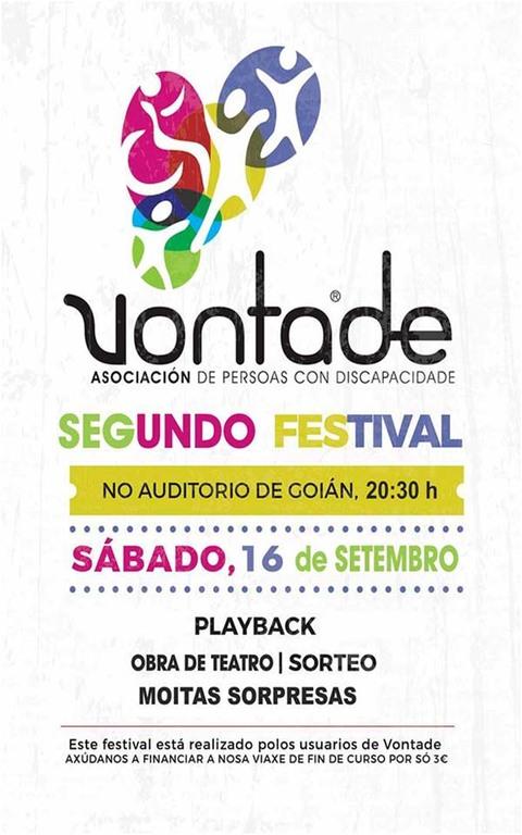 Infominho - Vontade organiza este sábado un Festival en Goián - INFOMIÑO - Informacion y noticias del Baixo Miño y Alrededores.