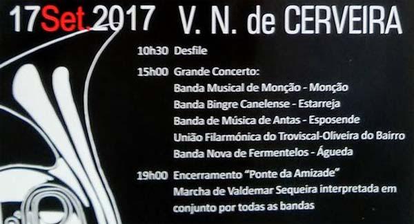 Infominho - Sonoridades filarmónicas vão encher o centro histórico cerveirense - INFOMIÑO - Informacion y noticias del Baixo Miño y Alrededores.