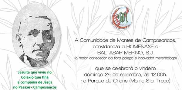 Infominho - Homenaxe o Pai Baltasar Merino, Xesuita e o maior botanico da historia de Galicia - INFOMIÑO - Informacion y noticias del Baixo Miño y Alrededores.