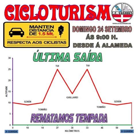 Infominho - Última salida de la temporada para el Club Ciclista Guardés este domingo 17 de septiembre - INFOMIÑO - Informacion y noticias del Baixo Miño y Alrededores.